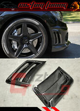 08-11 BENZ C63 AMG BLK CARBON FIBER DIRECT ADD-ON FRONT BUMPER AIR VENT COVERS