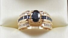 ESTATE 1.88CTW NATURAL SAPPHIRE  AND DIAMOND  RING 14K SOLID YELLOW GOLD
