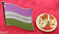 Suffragette Flag Lapel Pin Badge Votes For Women Suffragettes Symbol Brooch