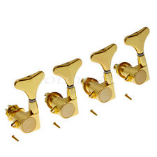 Electric Bass Guitar String Tuning Pegs Tuners Keys Machine Heads Gold 4L