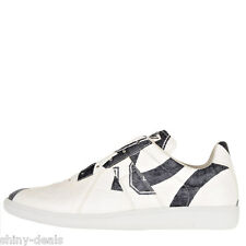 MAISON MARTIN MARGIELA 22 REPLICA Nw Man White Lace Up Low Sneakers Shoes Sz 41