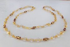 """Ethnic Indian Women's Fashion Jewelry Glass Beads Chain Necklace 22"""" Long cn15"""