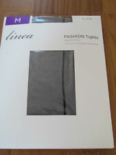 BLACK BACK SEAM LADIES TIGHTS SIZE MEDIUM FASHION HOSIERY LINEA HOUSE OF FRASER