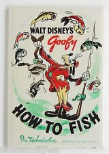 How to Fish FRIDGE MAGNET movie poster goofy fly fishing