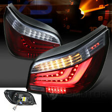 2004-2007 BMW E60 5-Series 525i 530i Red Smoke LED Light Bar Tail Brake Lamps