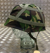 Genuine British Army Woodland Camo DPM Helmet Cover. Size Adjustable - Brand NEW