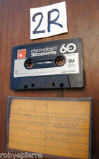 Vendo Musicassetta MC c60 c 60 BASF Chromdioxid SM cassette vintage germany made