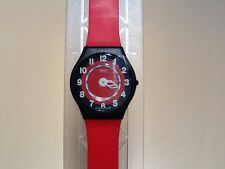 SALE THIS WEEK! Retro/vintage Red/black SWATCH ROSSO CORSA SKIN  NEW IN CASE