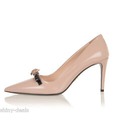 PRADA New Woman Beige Leather Pointed Stiletto Shoes Pumps Size 38.5 IT $ 568