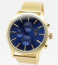 Designer Dress Watch Chrono Mens Style NY London Time & Date Round Display