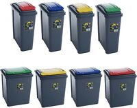 PLASTIC RECYCLE RECYCLING BIN KITCHEN DUSTBIN GARDEN WASTE RUBBISH BINS