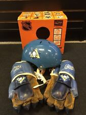 Scarce Vintage Boxed Pittsburgh Penguins Rawlings Kids Hockey Helmet And Gloves