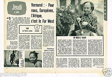 Coupure de Presse Clipping 1972 (2 pages) Claude Vermorel