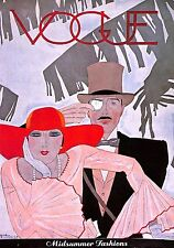 Vogue.Style.Art Deco.Top hat.Menswear.Fashion print.Millinery.Hat.Monocle