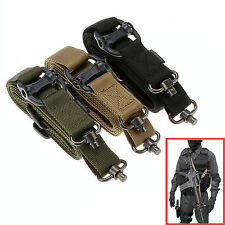 """Amy Green Tactical Quick Detach QD 1 or 2 Point Multi Mission 1.2"""" Rifle Sling"""