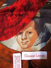 ITALY Authentic Christian Lacroix SETA Silk 22x22 Women Lady Scarf Gorgeous Gift