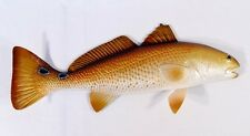 "Painted 28"" Redfish Red Drum Fish Salt Water Wall Mount Decor Sculpture 75R"