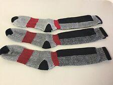 NWOT Men's Polar Edge 47% Merino Wool Blend Socks 3 Pair Large Multi #219P