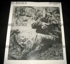 WWII German Elite MG 42 Gunner Fine Art Poster Print Drawing WW2 At Rest 1944-45