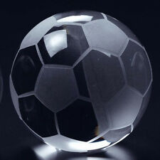 """High Quality Crystal Soccer Ball Paperweight 3"""" with Gift Box"""