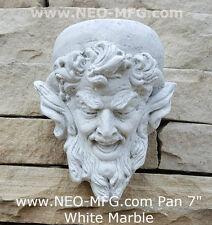 """Pan Gargoyle Satyr Faun wall corbel keystone Grotesque goblin sculpture 7"""""""