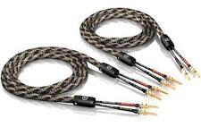 2x 8,0m ViaBlue SC-2 mono-fil  câble de haut-parleur avec TS