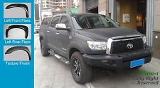 FENDER FLARES POCKET RIVET Style Toyota TUNDRA 2007-2013 TEXTURED Fsh; FULL Set