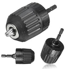 0.8-10mm 3/8'' 24UNF Keyless Drill Chuck Converter With 1/4'' Hex Shank Adaptor