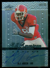 A.J. Green 2011 Leaf Draft All American ON CARD RC Auto #7/25 Bengals FREE SHIP