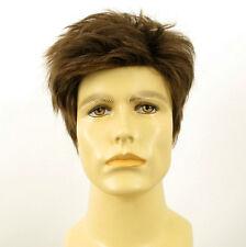 Perruque homme 100% cheveux naturel châtain clair ref BENOIT 8