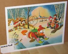 Carl Barks Kunstdruck: Snow Fun - Donald Duck, Scrooge McDuck, Family Art Print