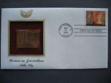 2002 Nellie Bly Journalism 22kt Gold GOLDEN First Day Issue Cover FDC FDI STAMP