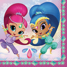SHIMMER AND SHINE SMALL NAPKINS (16) ~ Birthday Party Supplies Serviettes Cake