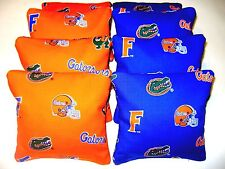8 CORNHOLE BEAN BAG CORN HOLE BAGGO FLORIDA GATORS   OB