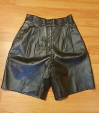 High waisted Vintage black leather shorts by Bagatelle (sz 10)