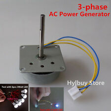 3-Phase AC Generator Small Wind Hand cranked Power Generator for DIY lover teach