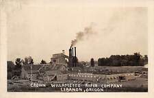 LEBANON, OR, CROWN WILLAMETTE PAPER COMPANY OVERVIEW, REAL PHOTO PC c. 1940's