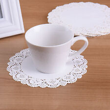 """100pcs 4.5"""" Ivory White Lace Round Paper Cake Cookie Doilies Placemat Craft"""