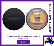 2 x id bare minerals escentuals - BareMinerals-Light(W15) 8gr/0.28 Oz. FREE POST