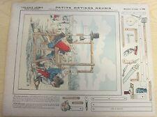 Grandes constructions image pellerin épinal n° 466 petits métiers réunis