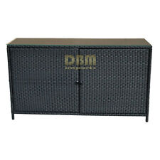 "59''x 18""x 33.5'' Wicker Serving Buffet Table Bar Counter Pool Towel Storage"