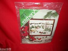 Spinnerin Stitchery Kit NEW #ST 1008 Snow Scene Designed by Veva Wood