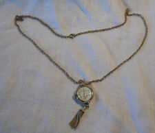 Ladies Longines Admiral vintage gold tone watch pendant necklace shock protected