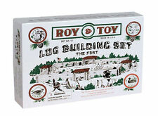 Roy Toy Building Logs Fort Set 38 Piece Mini Set Made USA Original Artwork 1930