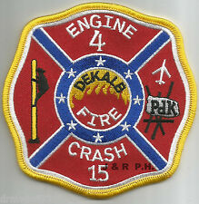 "Dekalb County  Engine-4 / Crash-15, GA  ""P.D.K.""  (4"" x 4"" size)  fire patch"