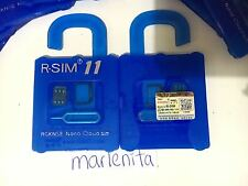 ★ R-SIM 11 para iOS 10.x Unlock Card for ALL iPhone hasta 7 ENVIO DESDE ESPAÑA