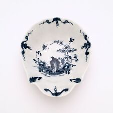 18th Century Royal Worcester 'Two Peony Rock Bird' Shell Shape Pickle Dish