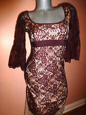 VICTORIA'S SECRET 3/4 SLEEVES LACE BELL SLEEVES DRESS SZ-4(SMALL)