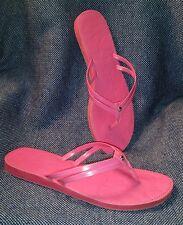 """Coach Flip Flops Pink Women's Sandals Fuchsia Size 7 (10"""" length)"""