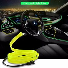 Universal Car Interior LED Decor Fluorescent Neon Wire Strip Atmosphere Cold 12V